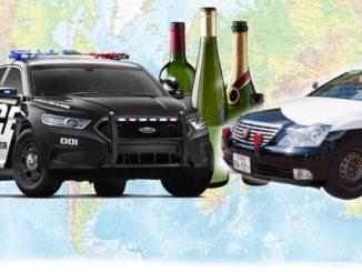 наказание для пьяных водителей в США, Китае, Японии